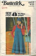 4412 Vintage Butterick SEWING Pattern Misses Loose Fitting Flared Jumper Sew&Go