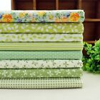 8 pcs BUNDLE green COTTON FABRIC FLORAL DOTS Joblot Mixed Craft Quiltig NEW