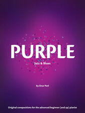 Purple, Jazz Repertory Book For Beginers By SheerPiano From The Color Series