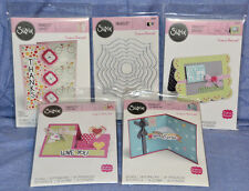 Sizzix Lot Framelits / Card Maker Flip-Its / Drop-Ins / Step-Ups: 5 items; NEW!!