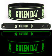 GREEN DAY Rubber Bracelet Wristband Glows in the Dark