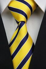 Green White Black Yellow Red New Stripe Striped Classic Silk Men's Tie Necktie