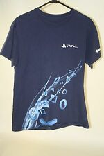 Gamestop Promo Sony Playstation 4 PS4 Blue Employee Event T Shirt Mens Size M