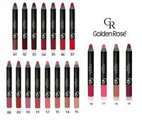 Golden Rose Matte Lipstick Crayon Pencil vitamin E long lasting