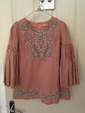 *Mainline* Matthew Williamson Beautiful Embroidered Pink Pearl Top UK10