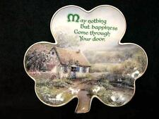 FRANKLIN MINT IRISH BLESSING PLATE LUCKY SHAMROCK 'HAPPINESS' LIMITED EDITION