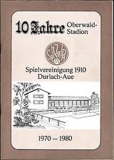 22.08.1980 70 Jahre  SpVgg Durlach-Aue + TSG Weingarten - SC Wettersbach