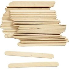 Wood Lolly Pop Sticks - 100 Pieces - Craft Make School - Wooden Model Stick Flat