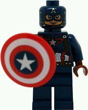 Genuine LEGO MARVEL SUPER HEROES CAPITAN AMERICA minifigura 76051 Mini Figura