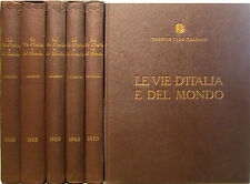 LE VIE D'ITALIA e del MONDO 3 annate complete 1968/69/70 Touring Club