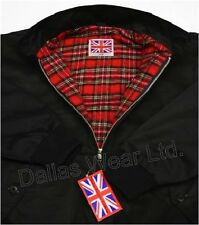 RETRO HARRINGTON JACKET MOD SKINHEAD SKA BLACK 3XL XXXL
