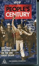 PAL VHS VIDEO TAPE : BBC PEOPLE'S CENTURY: LOST PEACE, SPORTING FEVER...........