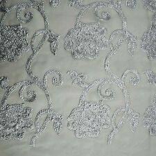 44 Wide Indian Dense Sequins Designer Georgette Craft Sewing Fabric By The Yard""
