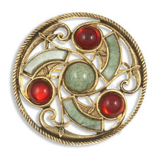 Celtic Irish Brooch in antique GP Ruby by Miracle Jewellery MBG357I