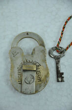 Old Brass Handcrafted 10 Levers Roshan Brand Padlock , Nice Patina