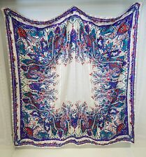 Authentic Vintage Christian Dior Blue Multi-color Scarf