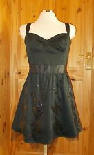 Primark sequin 50's pin up vintage style short party prom LBDdress 14 42 BNWT