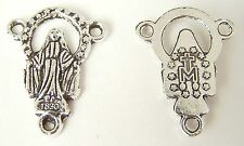 Tibetian Silver Lead Free Pewter Charms/Mother Mary 20x15mm 39-41Pcs. ~SM3005~