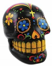 Black Day of the Dead Skull Bank ~ Wicca Pagan Magick Halloween