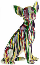 Multi Colour Paint Spill Chihuahua Dog Figurine Ornament