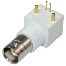 BNC Female Jack with Nut PCB Mount Right Angle RF Coaxial  Adapter Connector