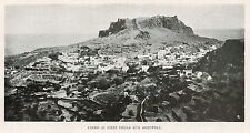 D1311 Greece - Lindo - Panorama - Stampa antica - 1923 old print