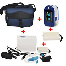 Home Travel Portable Oxygen Concentrator Generator + 2 Battery + Pulse Oximeter