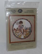 NIP Sometthing Special LITTLE GIRL ON THE WALL Counted Cross Stitch Kit (1988)