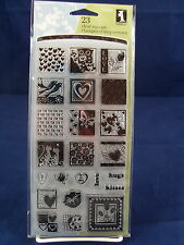 NEW INKADINKADO CLEAR STAMP SET HEARTFUL OF LOVE HUGS KISSES VALENTINES  98850