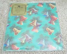 Vintage Norcross Christmas Bells Chimes Wrapping Paper - MIP