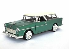 "Motor Max 1955 Chevy Bel Air Nomad diecast 1:24 scale 8"" model car Green M86"