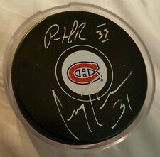 PATRICK ROY & CAREY PRICE DUAL SIGNED MONTREAL CANADIENS PUCK  COA FREE SHIPPING