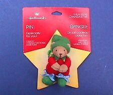 Buy3/Get1FREE~MOC Hallmark Christmas Pin ORNAMENT Clown BEAR Cloth Vtg Holiday