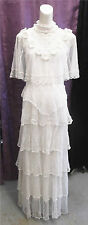 Victorian/Edwardian Style 90s Lim's Crocheted Gown Wedding Bridal Formal Sz Med
