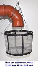 Filtre 30 cm d'eau de pluie pour réservoir Corbeille filtration Citerne Tamis
