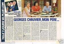Coupure de presse Clipping 1985 (3 pages) Serge Lama,Georges Chauvier mon père