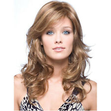 Women's Cosplay Party Heat Resistant Long Curly Wig Hair Hairpiece Fluffy Roll