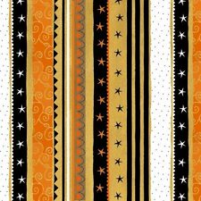 Cotton Quilt Fabric Witchy Studio E Halloween Stripe 3707-39 Quilting Sewing BTY