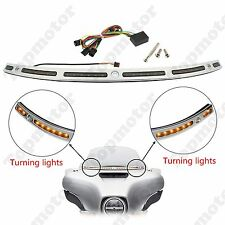 Chrome LED Illuminated Indicator Lighted Windshield Trim 4 Harley Touring 14-up