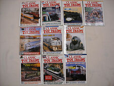 Lot of 10 1993-94 Classic Toy Trains magazines