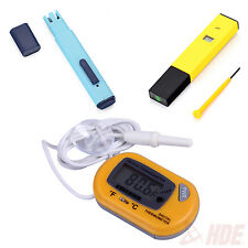 Digital Aquarium pH Meter + LCD Thermometer + TDS Water Quality ppm Meter Pen