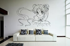 Wall Vinyl Sticker Decal Anime Manga Sailor Moon Girl VY189