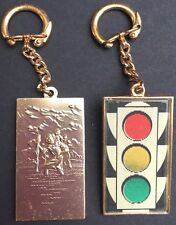 Flicker Traffic Light AND St Christopher...This Vintage Keyring has it Covered..