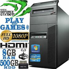 Ultra Fast Lenovo Gaming Computer Core i5 8GB nVidia Geforce GTX 750 Ti Cheap PC
