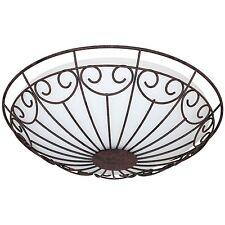 Deckenleuchte Deckenlampe 2x E27/ max. 60W Glas opal Metall rostfarben * EGLO