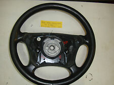 Mercedes-Benz W210 E430 2001 black leather steering wheel