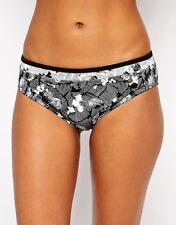 """NWT Black/Ivory Print Bikini Swim Bottom Size """"L"""" by Panache from My Swim Shop"""