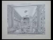 PARIS, AUTOMOBILE CLUB DE FRANCE - 1901 - PLANCHE ARCHITECTURE - GUSTAVE RIVES