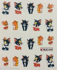 Nail Art Calcomanías Agua Transfers Tom y Jerry Esmalte En Gel UV Uñas