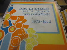 Mack Truck Engine Tune Up Specifications Manual Year 1972-1982